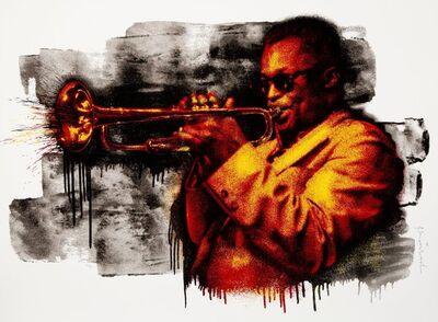 Mr. Brainwash, 'Miles Davis (Red and Yellow)', 2015