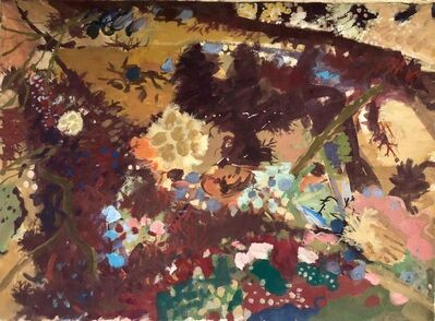 """Morris Shulman, 'Gouache Painting """"Anemone Tide Pool"""" American WPA Abstract Expressionist Artist', 1950-1959"""