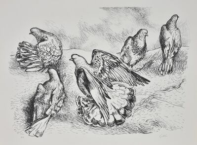 Renato Guttuso, 'colombe', 1970-1980