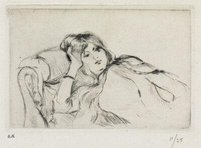 Berthe Morisot, 'Jeune femme au repos.', 1889