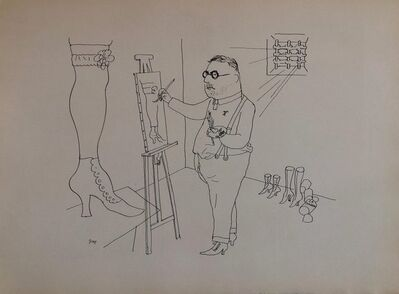 George Grosz, '1936 Lithograph Interregnum portfolio Artist Studio small edition Weimar Germany', 1930-1939