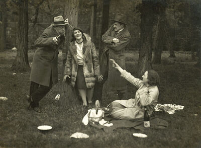 André Kertész, 'A Picnic Party in Bois de Boulogne, Paris', 1929/1929