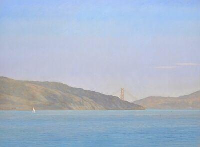 Willard Dixon, 'Racoon Strait / Golden Gate Bridge with sailing ships , California landscape ', 2019