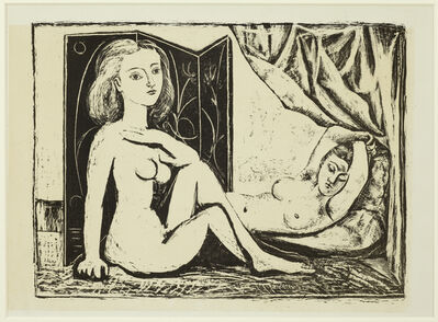 Pablo Picasso, 'Les Deux Femmes nues, State 9, 10th January 1946', 1946