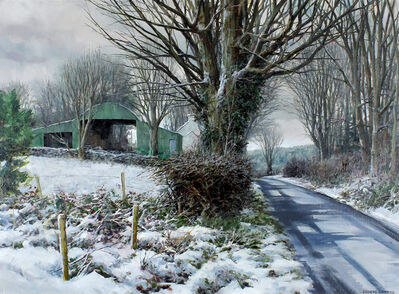 Eugene Conway, 'Green Barn In Snow', 2020