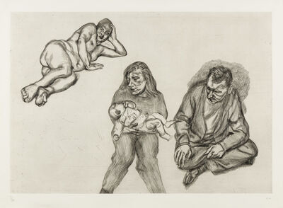 Lucian Freud, 'Four Figures', 1991