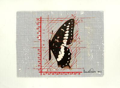 Prasanta Sahu, 'Butterfly, Mixed Media in black & red by Indian Contemporary Artist Prasanta Sahu', 2011