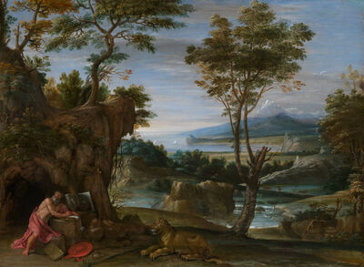 Domenichino, 'Landscape with St. Jerome', ca. 1610