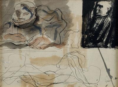 Mario Sironi, 'COMPOSIZIONE', circa 1950