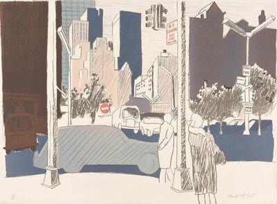 Fairfield Porter, 'STREET SCENE (L. 18)', 1969