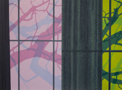 George Rush, 'Windows and Curtains (Pink & Green)', 2016