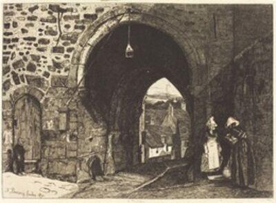 François Bonvin, 'La Porte de St Malo à Dinan', 1871