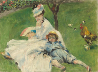 Pierre-Auguste Renoir, 'Madame Monet and Her Son', 1874