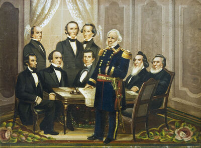 Anonymous, 'Lincoln's First Cabinet', ca. 1861