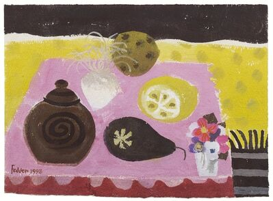 Mary Fedden, 'Still Life with Lemon, Pear and Teapot', 1998