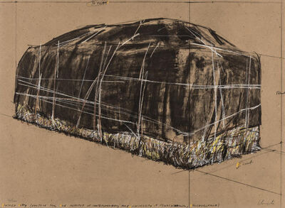 Christo, 'Packed Hay, Project for the Institute of Contemporary Art, Philadelphia', 1973