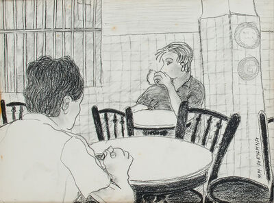 Gilles Massot, 'The Coffee Shop Series, Charcoal Drawing 6 ', 1992