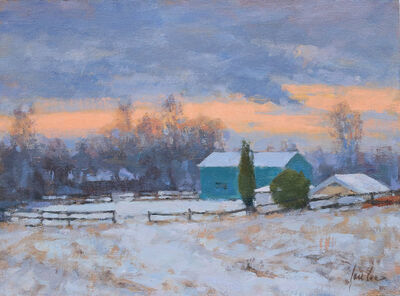 James Coe, 'Green Barns, First Snow', 2019