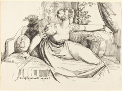 Henry Fuseli, 'A Woman Sitting by the Window', 1802