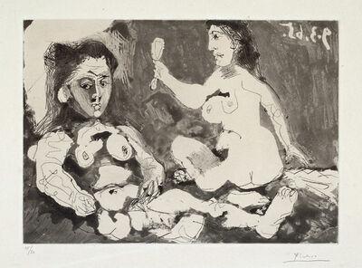 Pablo Picasso, ' Femmes à leur toilette II', 1965