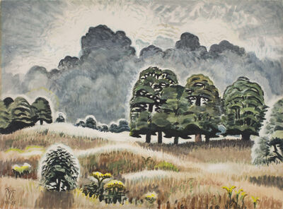 Charles Ephraim Burchfield, 'Lightning at Twilight', 1950-1955