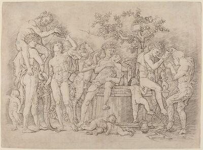 Andrea Mantegna, 'Bacchanal with a Wine Vat', ca. 1475