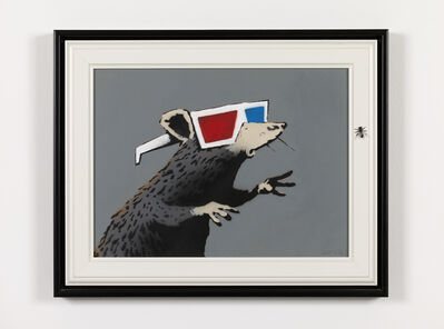 Banksy, 'Rat [with 3D glasses]', 2010