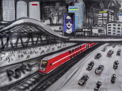 Olga Kundina, 'A red train', 2020