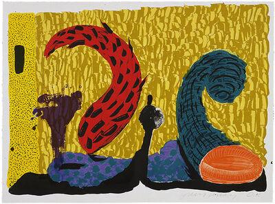 David Hockney, 'Pushing Up', 1994