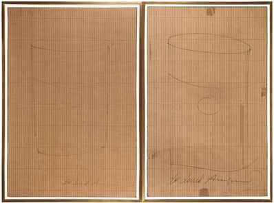 Andy Warhol, 'Untitled (Soup Can Drawings on Portfolio Card)', 1968