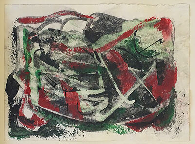 Lawrence Calcagno, 'untitled Red & Green', 1970