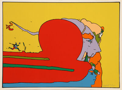 Peter Max, 'Moving with Father', 1972