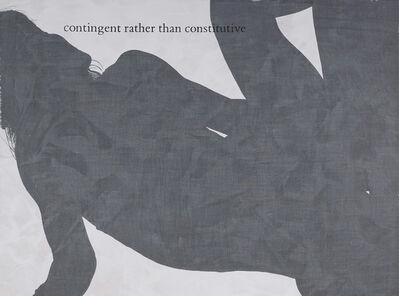 Julião Sarmento, 'Parasite (contingent rather than constitutive)', 2003