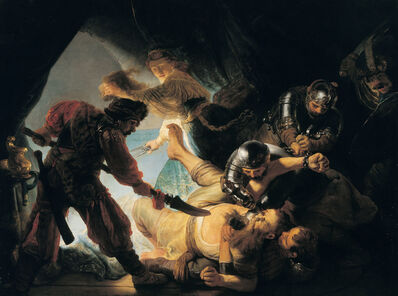 Rembrandt van Rijn, 'The Blinding of Samson', 1636