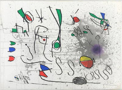 Joan Miró, 'UNTITLED (FROM HOMAGE TO PICASSO)', 1972-1973