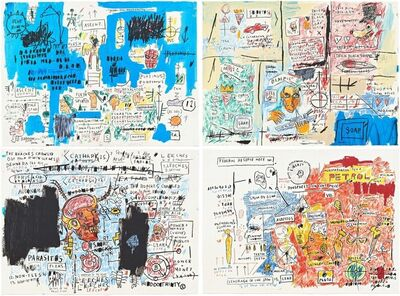 Jean-Michel Basquiat, 'Ascent, Olympic, Leeches, and Liberty', 1982-83/2017