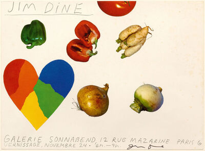Jim Dine, 'Carton d'invitation de la galerie Sonnabend', 1970