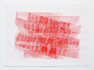 Serena Amrein, 'linienstempel 1', 2009