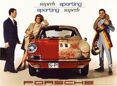 Erich Strenger, 'PORSCHE 911 - SUPURB SPORTING - SHOWROOM POSTER', 1967