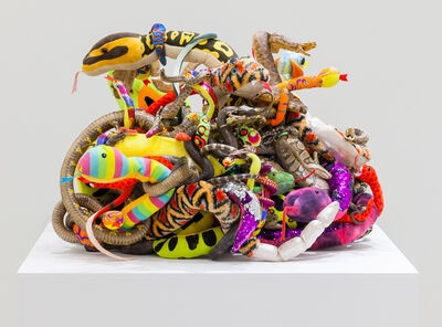 Tony Tasset, 'Snakes (A monument to the eternal battle between truth and fiction)', 2020