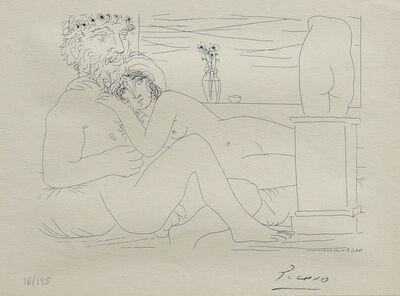 Pablo Picasso, 'Le repous du sculpteur davant le petit torse', 1956