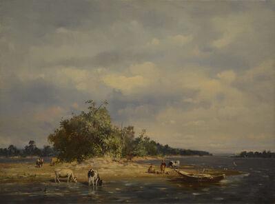 Oleg Aleksandrovich Leonov, 'In Volga River', 1998