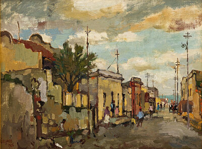 Gregoire Johannes Boonzaier, 'Chiappini Street, Malay Quarter, C Town', 1956