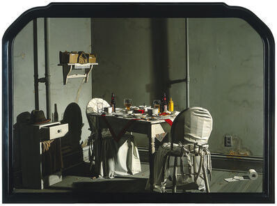 Donald Roller Wilson, 'Mrs. Jenkins' Late Night Dinner in Her Room, Alone (While, Out in the Hall Leading to Her Room, Her Small Friends were Sleeping)', 1984
