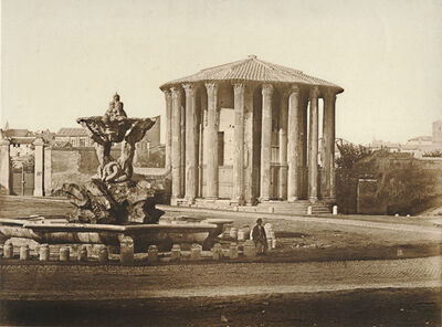 James Anderson, 'Temple of Vesta, Rome', 1852c