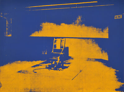 After Andy Warhol, 'Electric chair'