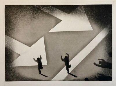 Juan Genovés, '1970 Silencio, Direccion Unica, One Way Spanish Political Etching Pop Art Print', 1970-1979