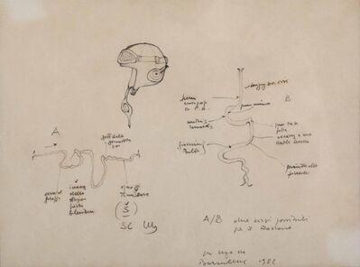 Gianfranco Baruchello, 'Due corsi possibili', 1982
