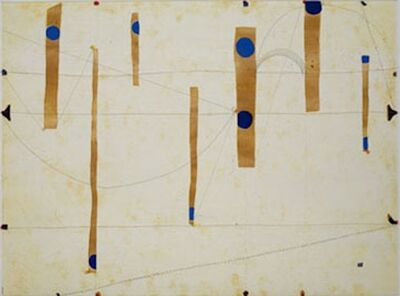 Caio Fonseca, 'Three String Etching, Blue Point', 2006