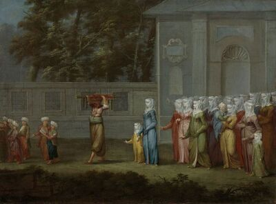 Jean Baptiste Vanmour, 'The First Day of School', ca. 1720 -c. 1737